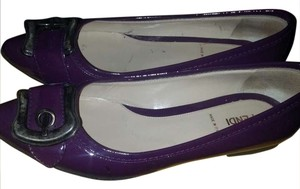 Fendi Ballerina Designer High End Purple Patent Leather Flats