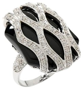 Victoria Wieck Victoria Wieck Absolute Black Onyx Overlay Sterling Silver Ring - Size 5