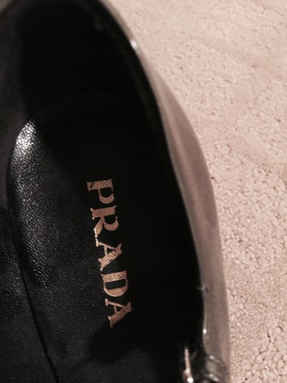 Prada Mary Jane Heels Grey Pumps