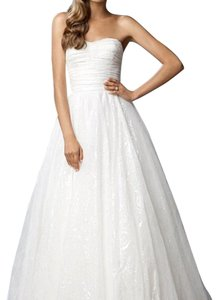 Watters White Lace Traditional Wedding Dress Size 8 (M)