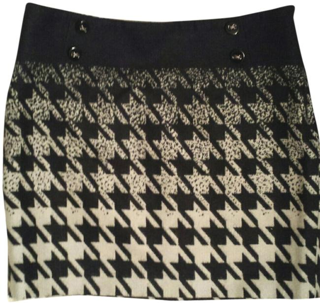 The Limited Size 8 Houndstooth Mini Skirt black light grey