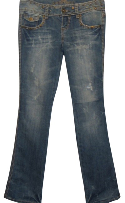 Almost Famous Clothing Boot Cut Jeans-Distressed