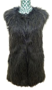 Romeo & Juliet Couture Faux Fur Coat Jacket Fur Vest