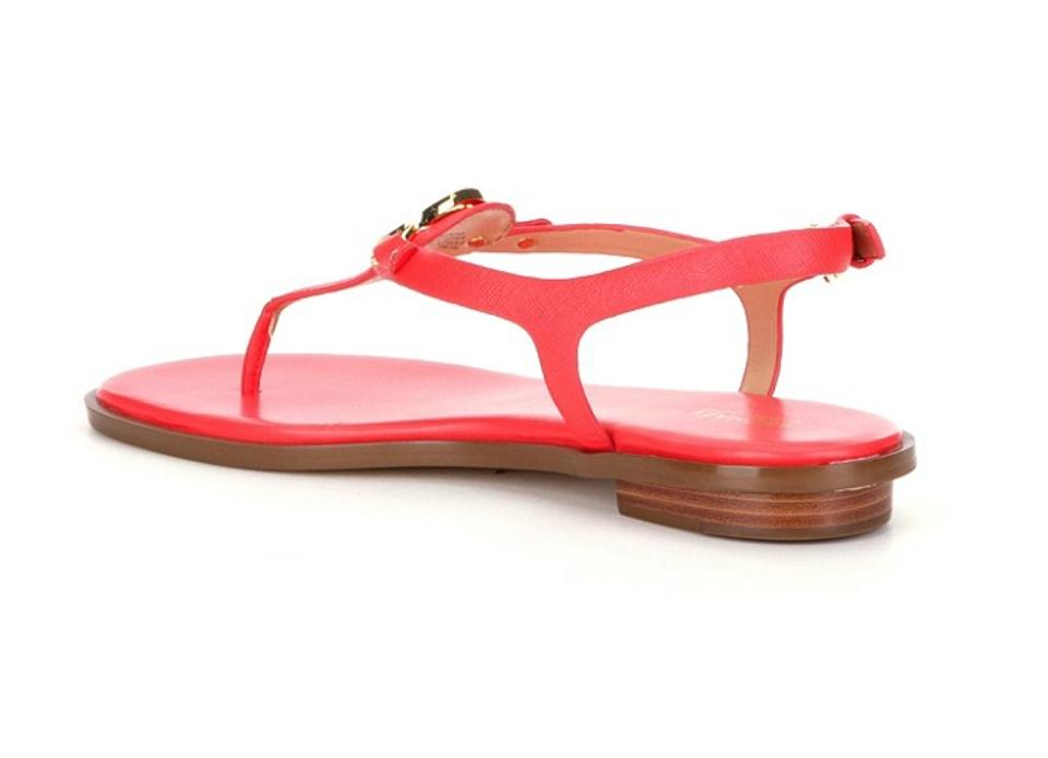 96864f0728c0 Michael Kors Coral Reef New Lee Thong Leather Flip Flop Sandals Size ...
