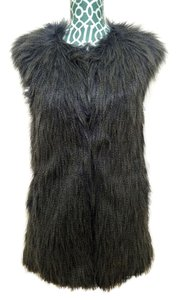 Romeo & Juliet Couture Faux Fur Fur Coat Jacket Vest