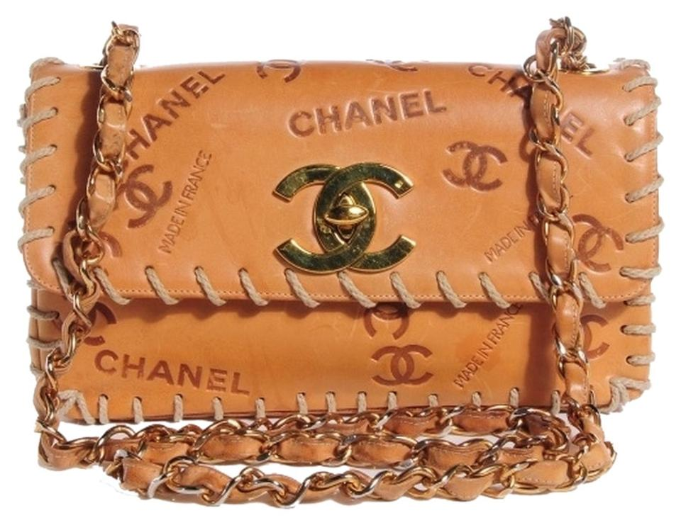 f58ca58679a2 Chanel Embossed Leather Medium Flap Medium Flap Double Flap Shoulder Bag  Image 0 ...