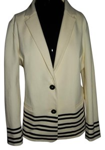 J.Crew Jacket Suit Black And White Cream/Black Blazer