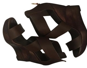Diane von Furstenberg Brown Wedges