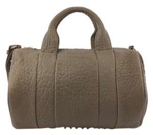 Alexander Wang Rocco Leather Satchel in Taupe