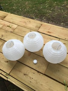 Paper Lanterns With Lights (set Of 18)