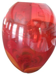 "Clearance - Waterford ""evolution"" Fiery Red Tall Vase"