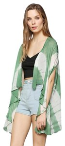 Urban Outfitters Vest Tie Dye Draped Top Green