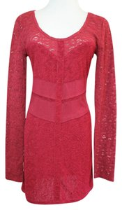 Free People short dress Burgundy/ Red Anthropologie Lace Red Burgundy on Tradesy