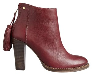 Ted Baker Tassle Ankle Dark Red Boots