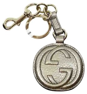 Gucci GUCCI 282641 Leather Interlocking G Key Chain