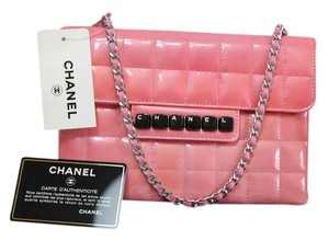 Chanel Flap Quilted Evening Patent Leather Baguette
