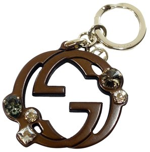 Gucci GUCCI 370654 GG Charm with Swarovski Crystals Key Ring