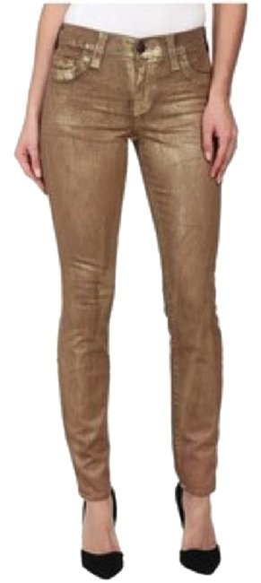 Item - Gold Halle Skinny Jeans Size 26 (2, XS)