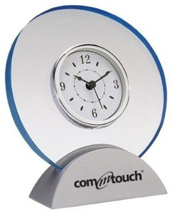 Other Acrylic Clock with Satin Finish Silver Base