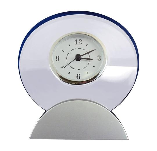 Other Modular Desk Clock - Analog Dial In Round Transparent Acrylic Frame.