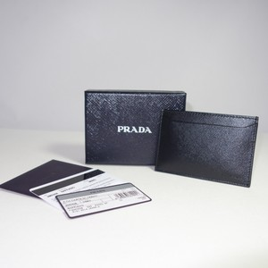 Prada PRADA NERO SAFFIANO LEATHER CARD CASE