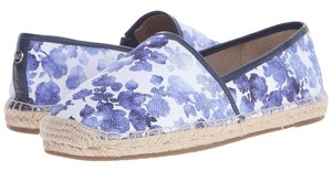 Michael Kors Blue Printed Canvas Flats