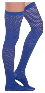 Free People Free People Open Knit Thigh High Socks Cobalt One Size Free People NWT $28