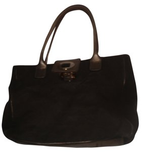 Kate Spade Shoulder Tote in Dark Brown/Gold
