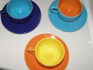Clearance - Pagnossin Teacups And Saucers N I B