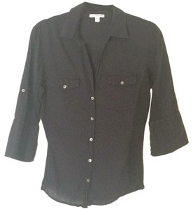 James Perse Button Down Shirt Navy