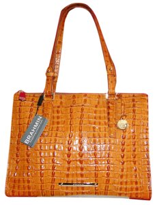 Brahmin Anywhere Leather Emb Tote in Whiskey
