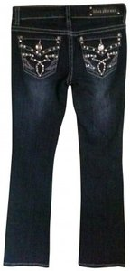 Miss Chic Jeans Bling Rhinestone Boot Cut Jeans-Medium Wash