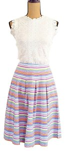 Talbots Pleated Summer Midi Skirt Multicolor