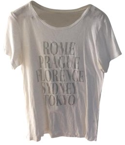 J.Crew T Shirt White and silver