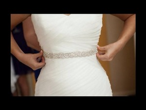 Crystal Beaded Bridal Sash Wedding Dress Belt