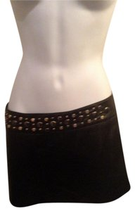 bebe Mini Skirt black leather