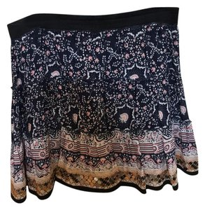Free People Mini Skirt Navy with pink accent
