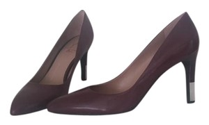 Franco Sarto Sleek Special Burgundy leather with silver metal heel accent Pumps