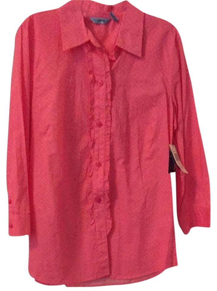 Izod button down barberllapink 50 off tops tradesy for Izod button down shirts