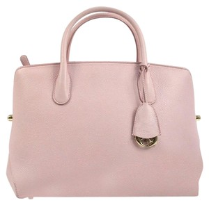 Dior Christian Bar Tote Satchel in Pink