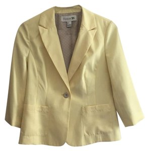 Forever 21 F21 Jacket Yellow Blazer