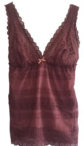 Eberjey Anthropologie Lace Lace Trim Top Mauve