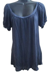 Juicy Couture Striped Knit Summer Casual Flowy Top Blue