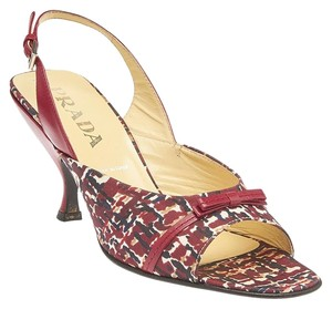 Prada Open-toe Slingback Multi-Color Formal