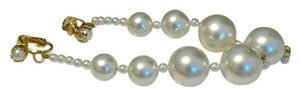 Beautiful Faux Pearl Clip On Earrings