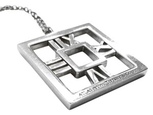 Tiffany & Co. Tiffany & Co Silver Atlas Square Necklace