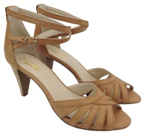 Seychelles Leather Ankle Strap Strappy Tan Sandals