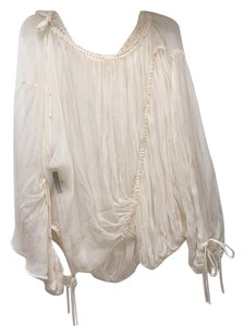 Dolce&Gabbana Top Ivory Sheer