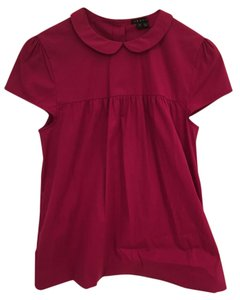 Theory Designer Peter Pan Collar Top Pink