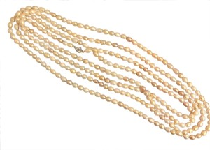 Boutique NWOT Genuine 8mm-9mm pearl endless necklace